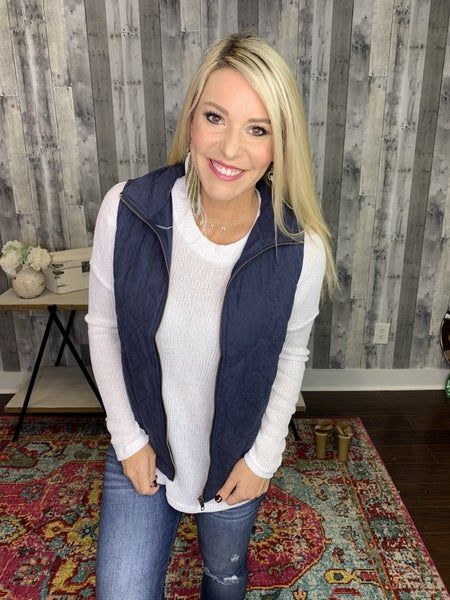 {PLUS+ REG QUILTED VEST}