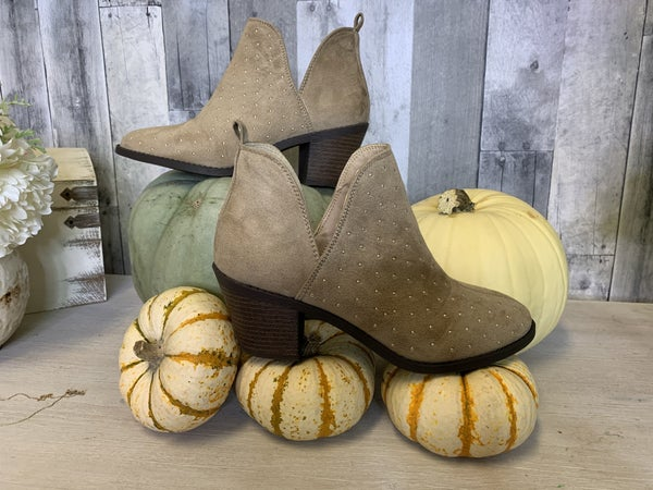{RECALL TAUPE BOOTIES}