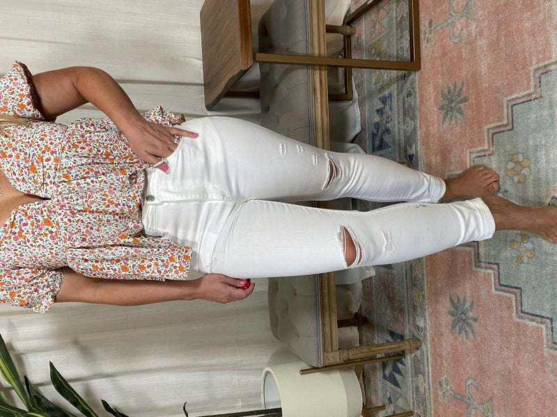 Plus andReg- Risen Distressed Relaxed Skinny Jeans