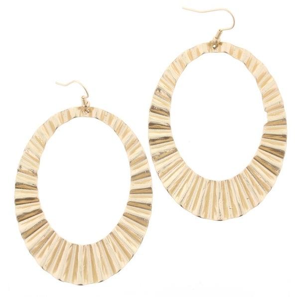 JANE MARIE - WAVY GOLD EARRING *Final Sale*