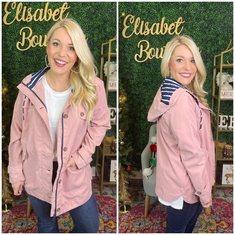 PRETTY IN PINK ANORAK JACKET