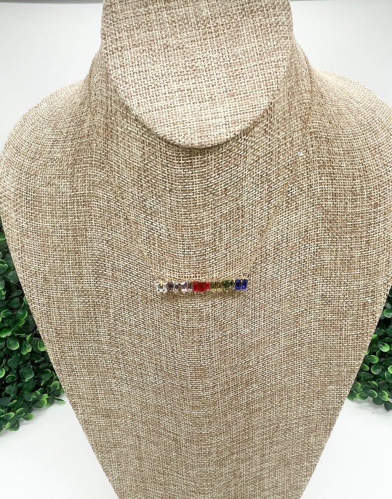 Tilted Rainbow Necklace