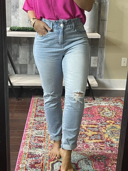 Dream YMI Paperbag Ankle Jeans