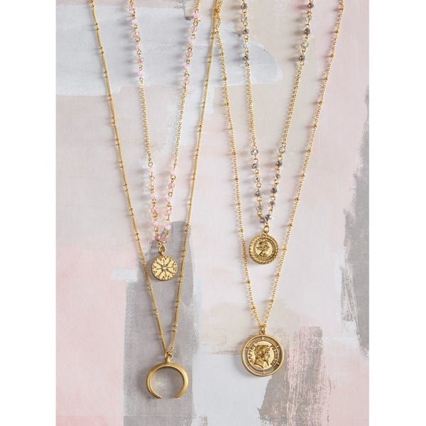 {COIN LAYERING NECKLACES}