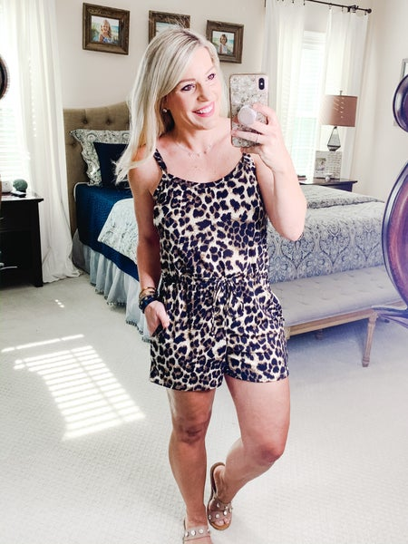 {LEAPING LEOPARDS ROMPER}