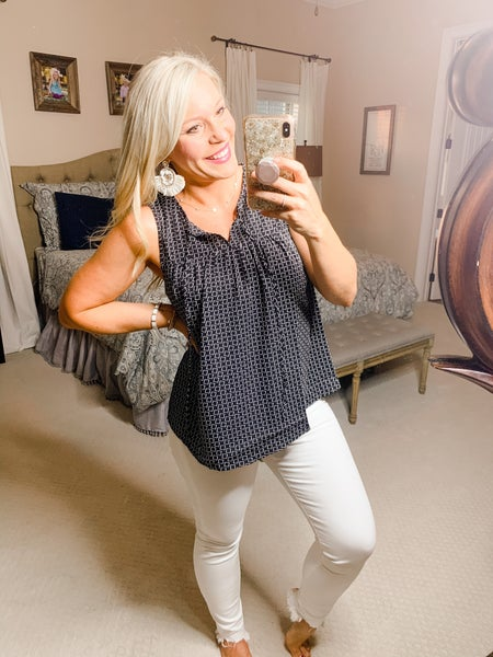 {SQUARED AWAY TOP} *Final Sale*