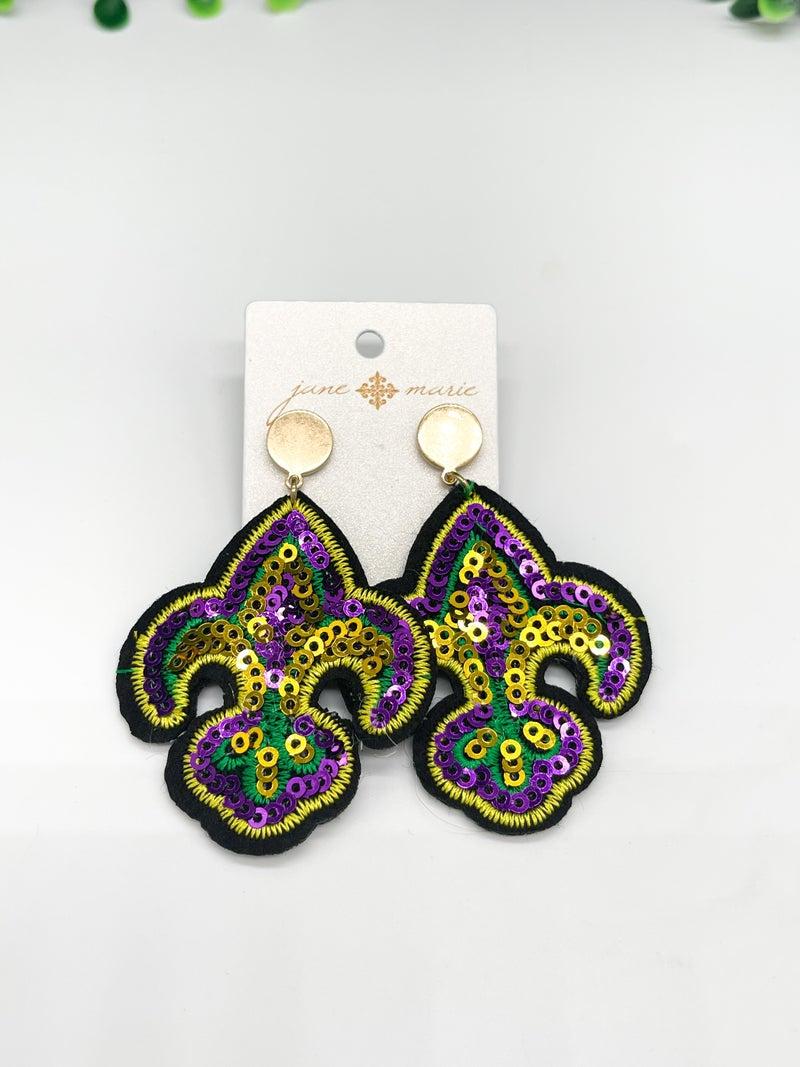 Mardi Gras Ready Earrings *Final Sale*