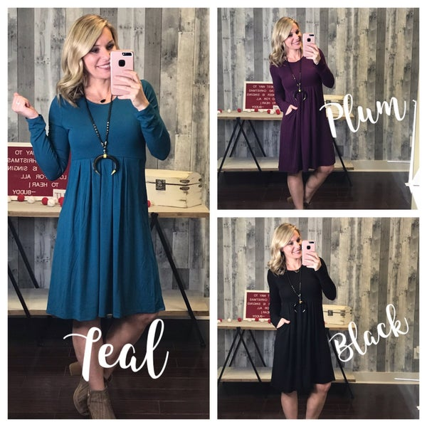 {DOORBUSTER ALL THE RIGHT THINGS LONGSLEEVE DRESS}