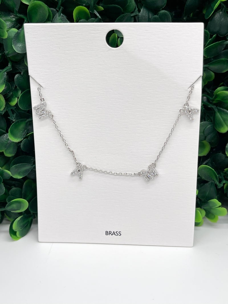 MAMA Letter Station Necklace