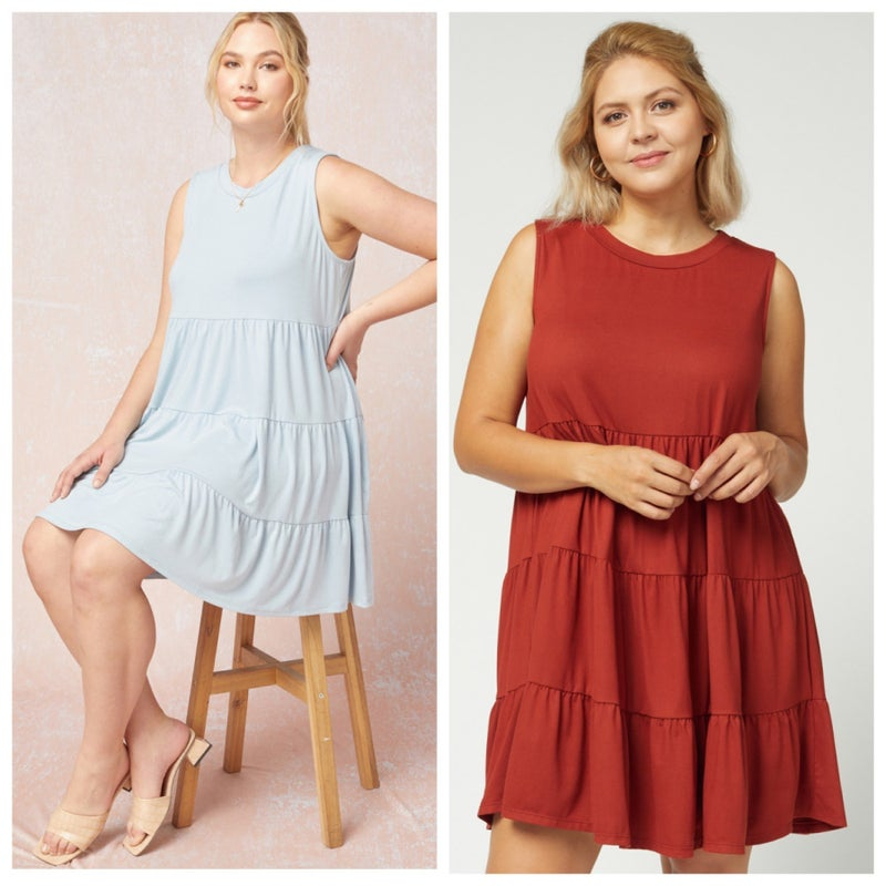 Plus- Living For Today Dress