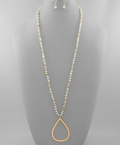 Teardrop Beaded Necklace