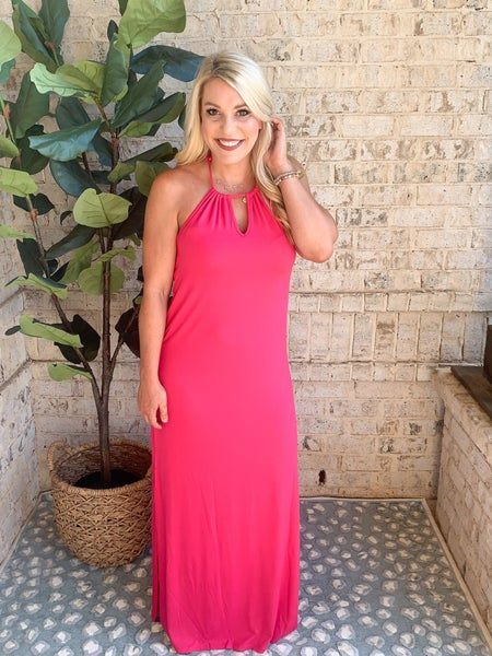DEAL OF THE DAY- HALTER DRESS}