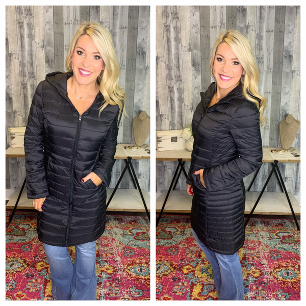 {PACKABLE PADDED PUFFER COAT} *Final Sale*