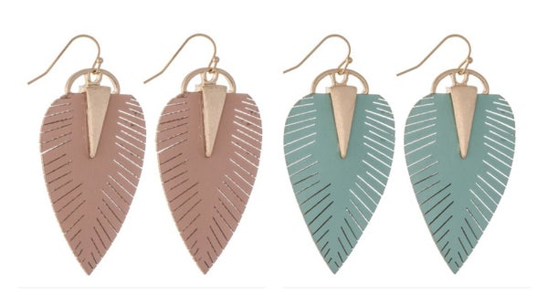 {LEAF DROP EARRING}