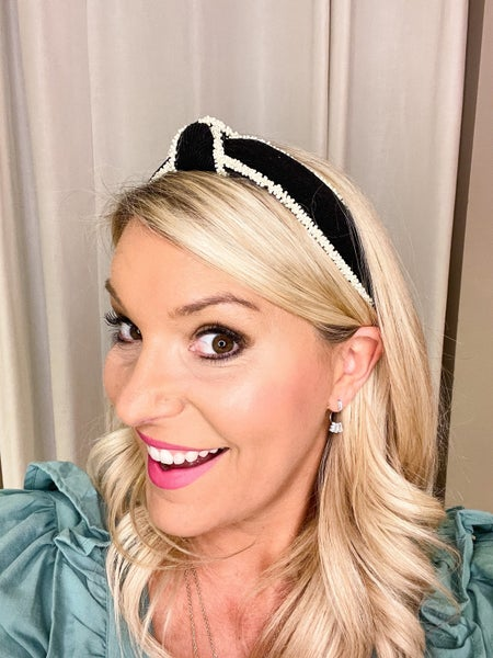 Black Micro Pearl Headband