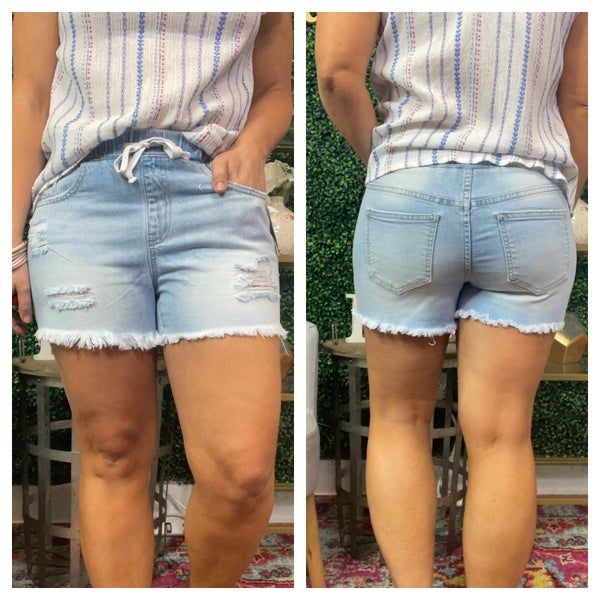 Rips and Tatter YMI Shorts