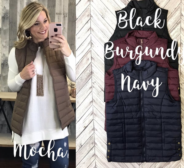 {QUINNY QUILTED VEST}