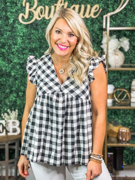 Gingham Girl Top