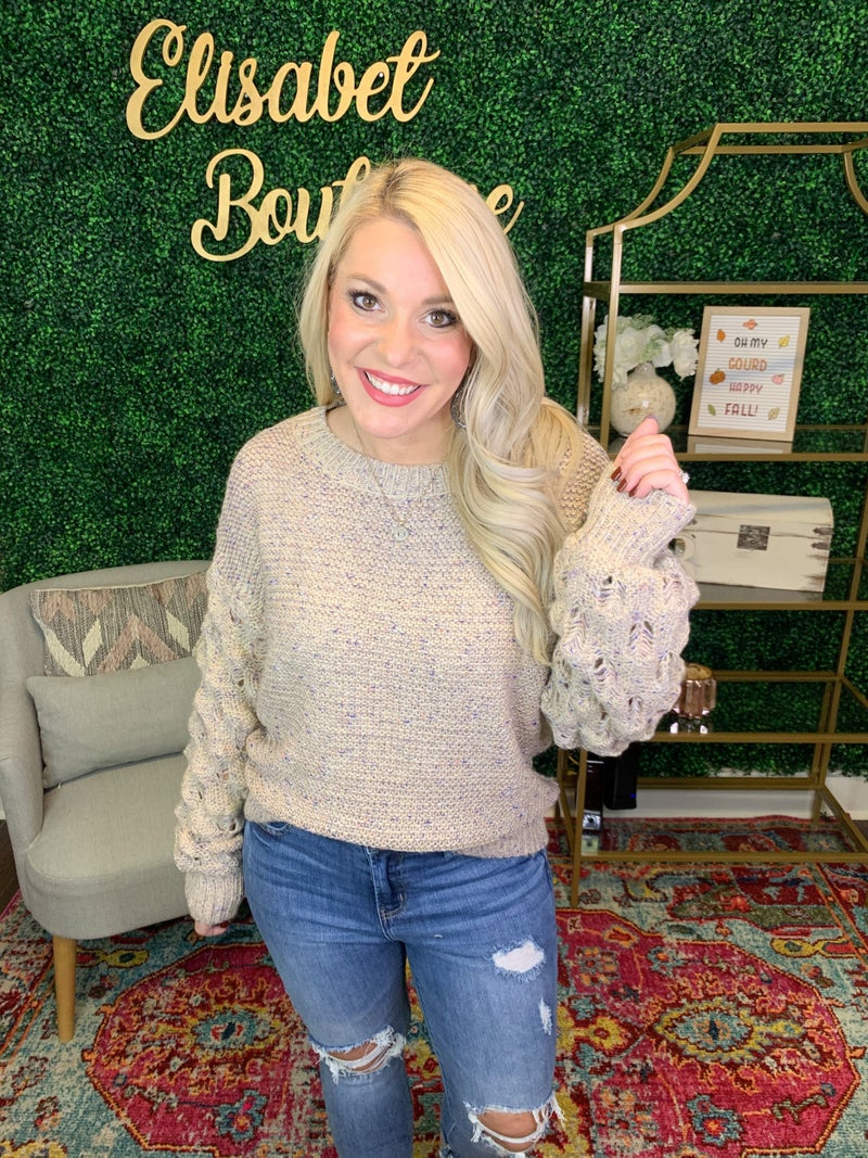 BUBBLING WITH JOY SWEATER