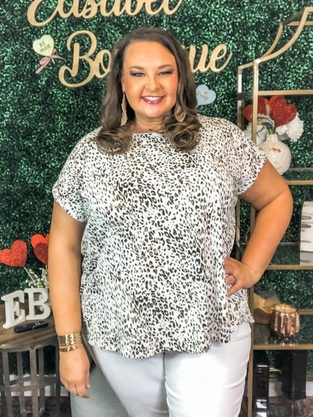 {PLUS SIZE- WILD FOR YOU TOP} *Final Sale*
