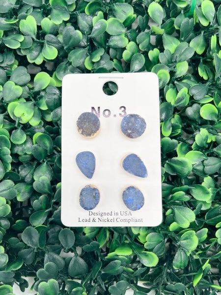 3 Pack Druzy - Blue *Final Sale*