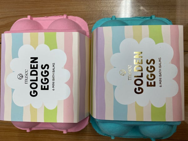 Musee Golden egg bath bombs