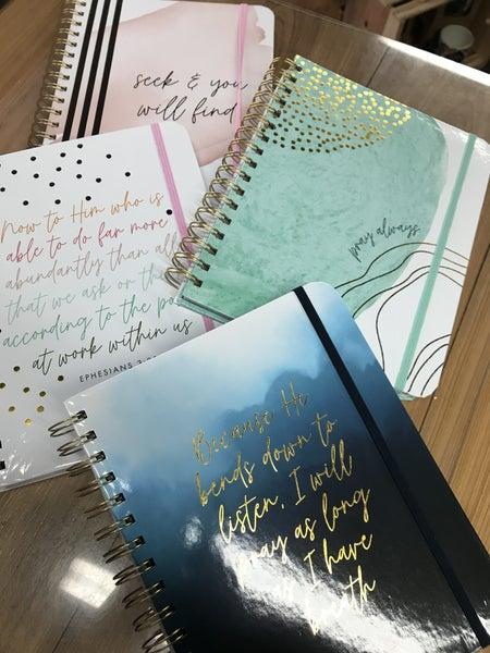 Spiral prayer journal