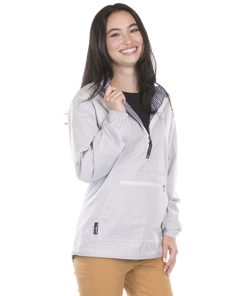 Charles River Anorak White with navy blue check