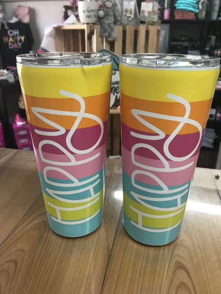 Happy large stainless steel tumbler