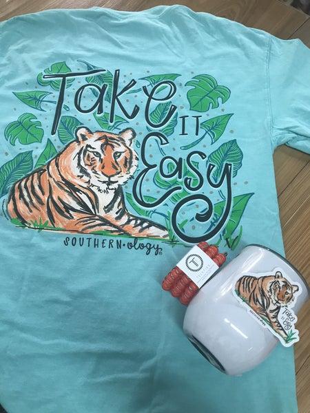 Take an easy Tiger comfort color shirt