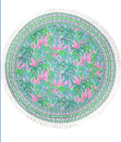 Lilly oversized circle beach towel