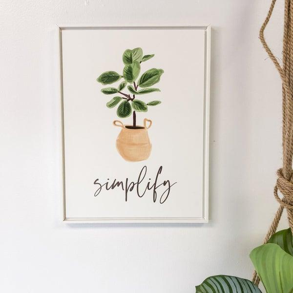 Simplify Framed Art