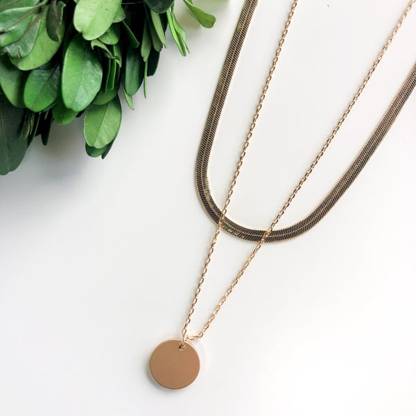 Tyra Gold Layered Necklace