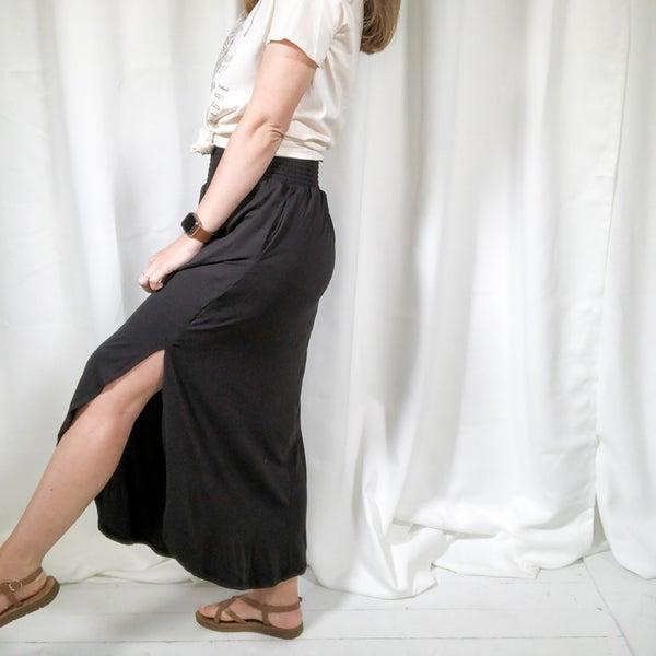 Smocking Waist Maxi Skirt - 2 colors