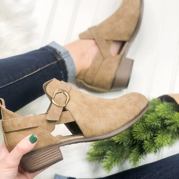 Kenzie Taupe Bootie *Final Sale*