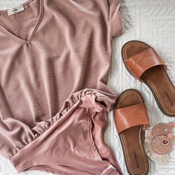 Chloe Body Suit in rose