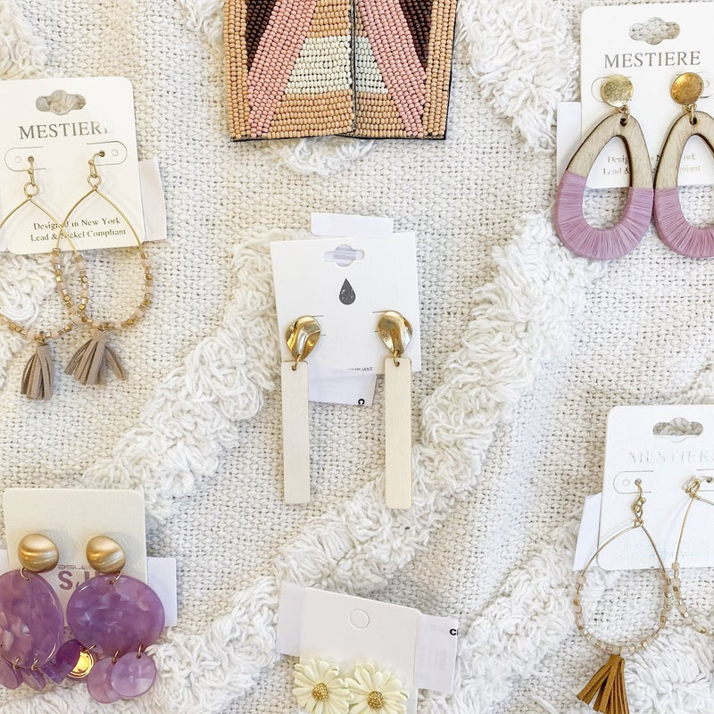 Creamy Tones Earring Collection