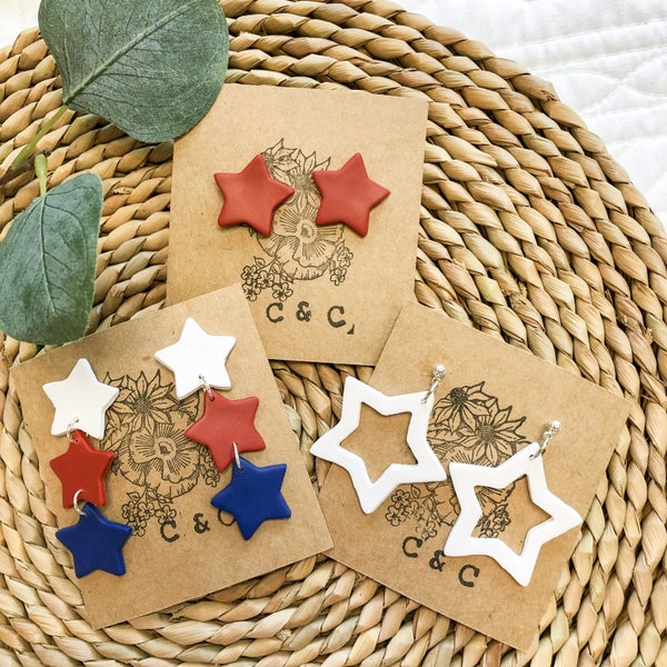 Americana Star Earrings - 3 styles