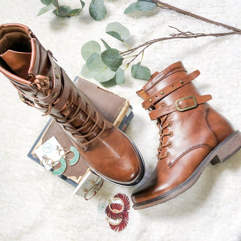 Whiskey Double Buckle Bootie *Final Sale*