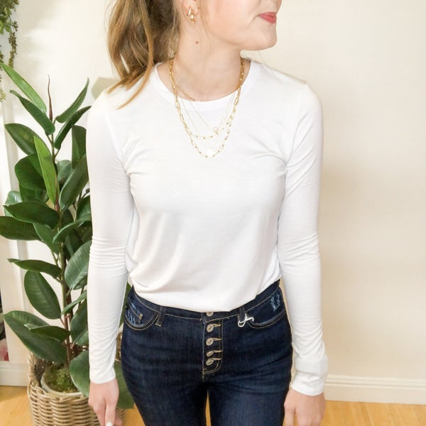 Emma Long Sleeve Relaxed Tunic Tee  -4 colors