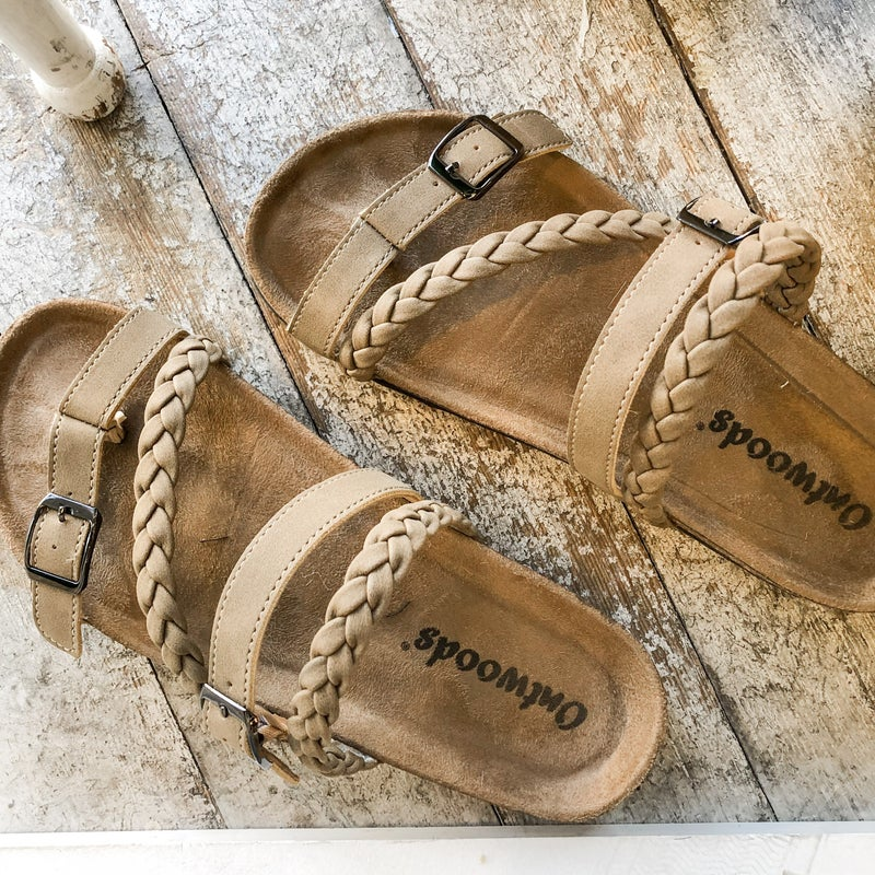 Taupe Braided Birk
