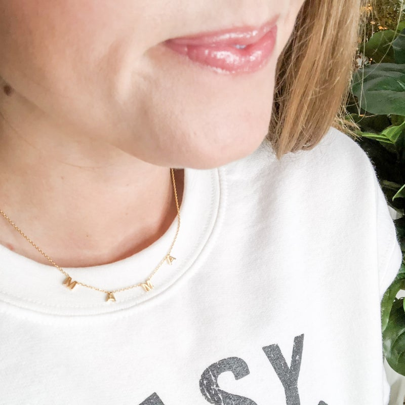 Mama Initial Necklace
