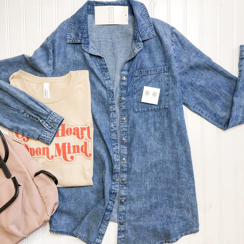 Denim Button Up +