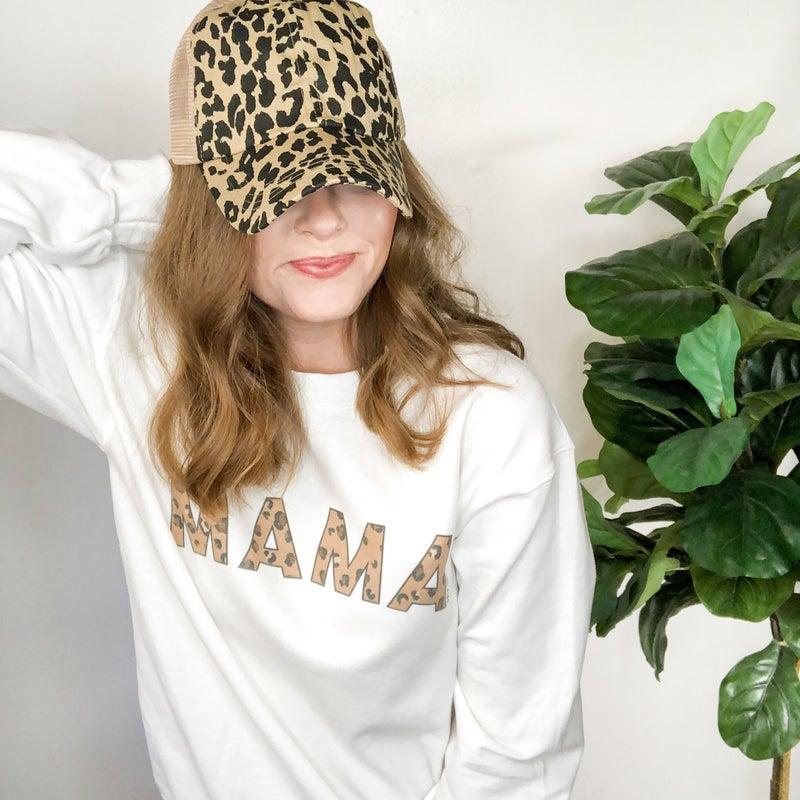 Mama Leopard Sweatshirt +