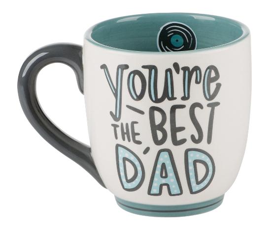 Record Best Dad Mug