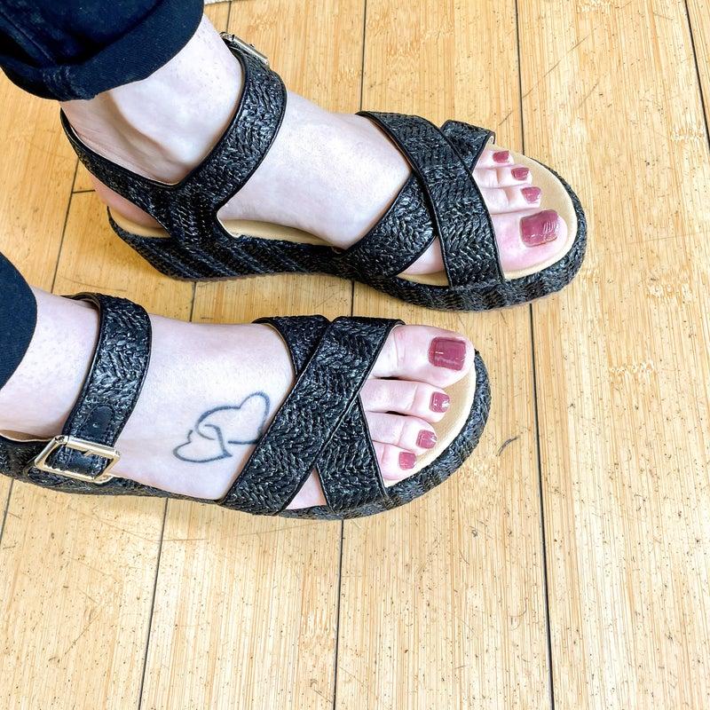 Lyla Black Weaved Sandal