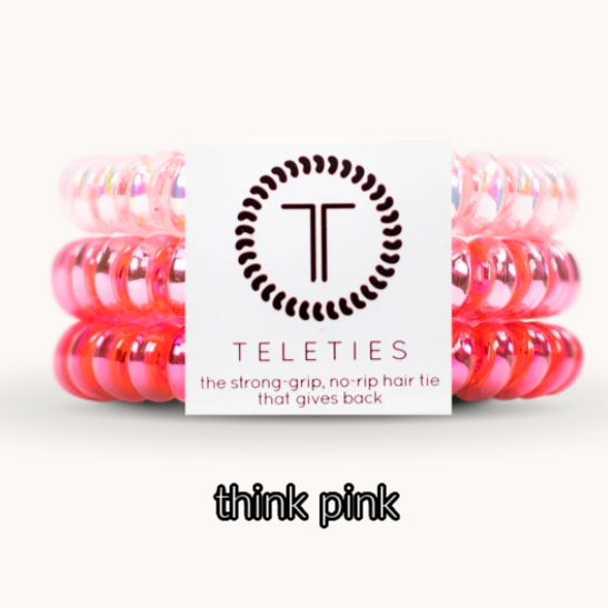 Teleties 3 Pack  - 2 sizes- multiple colors