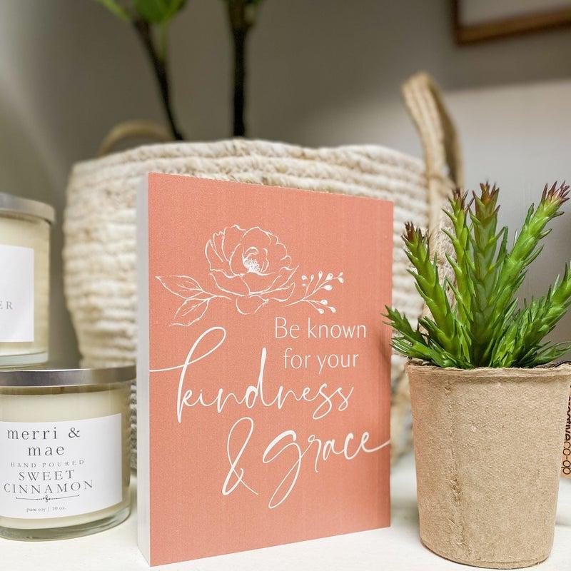 Kindness + Love Wood Sign - 2 designs