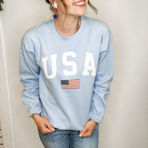 USA Flag Sweatshirt +