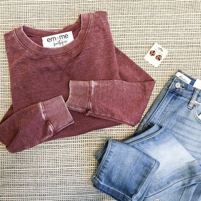 Raspberry Sweatshirt +